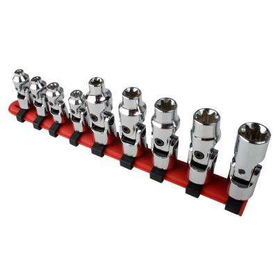 1/4 in. Drive Universal External Star Socket Set (9-Piece)