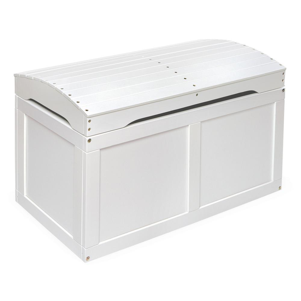White Barrel Top Toy Chest Trunk