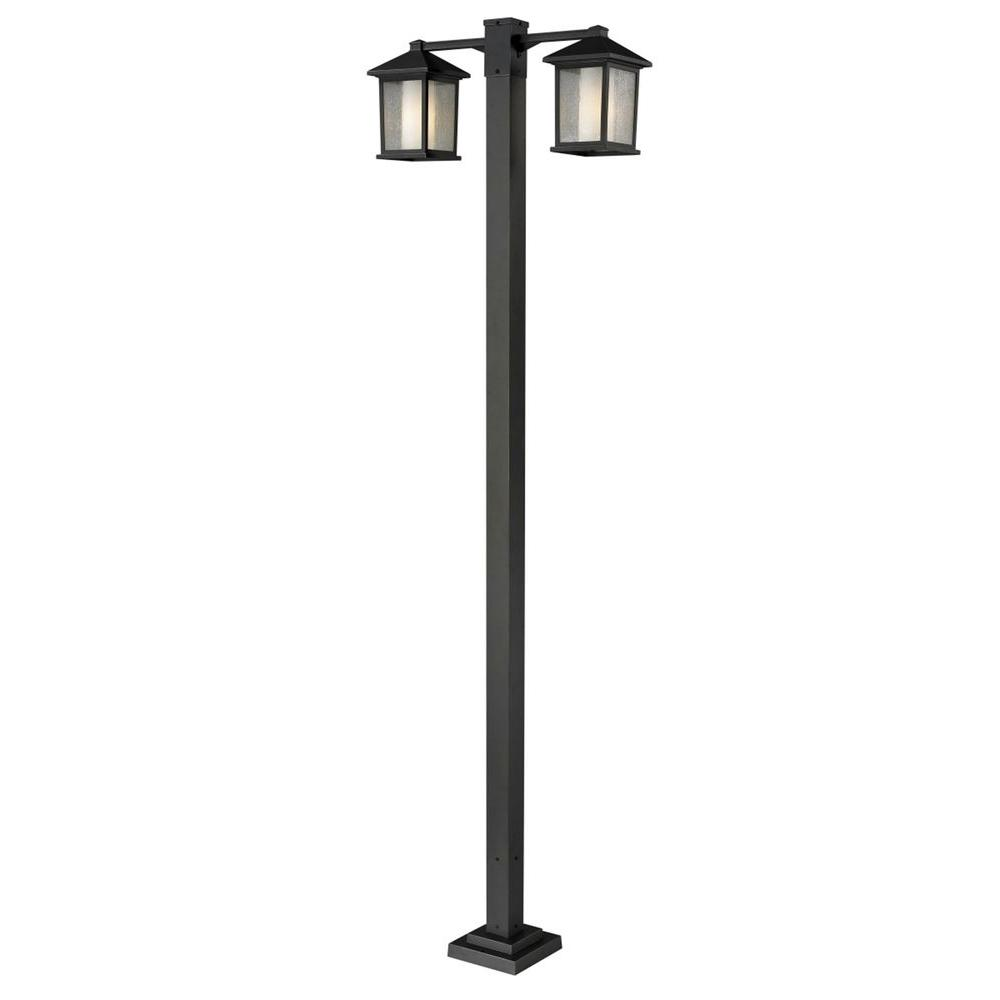 Lawrence 2-Light Oil-Rubbed Bronze Incandescent Outdoor Post Light