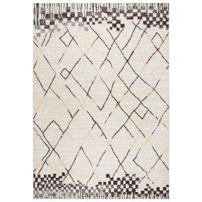 Xcite Beige/Brown 8 ft. x 10 ft. Rectangle Area Rug