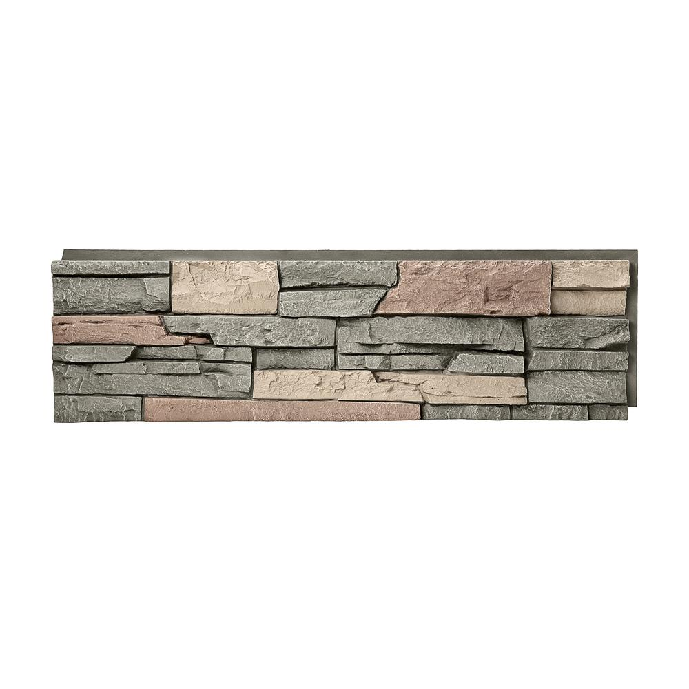 GenStone Stacked Stone Stratford 12 in. x 42 in. Faux Stone Siding Panel