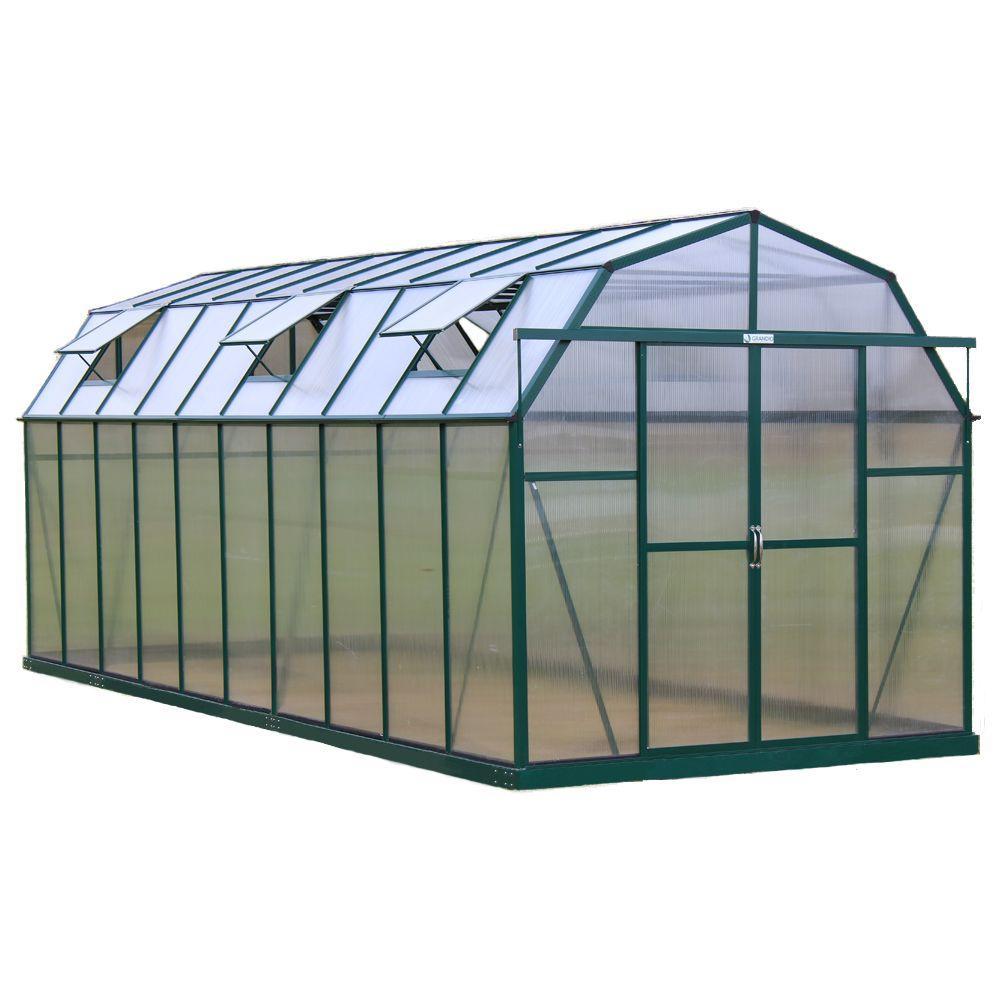 Grandio Greenhouses Elite 8 ft. W x 20 ft. D x 8 ft. H Heavy-Duty Aluminum Greenhouse Kit