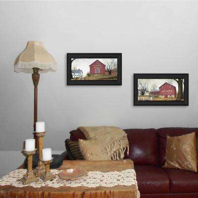 """Antique Barn and Quilt Barn"" by Billy Jacobs Framed Wall Art"