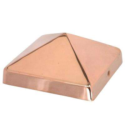 NOMINAL 8 in. x 8 in. Pyramid Slip Over Copper Fence Post Cap