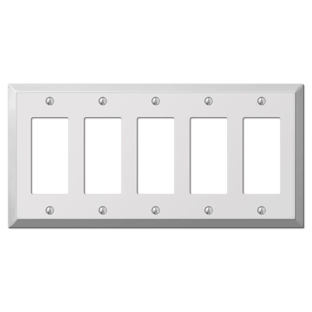 Century 5 Decorator Wall Plate - Chrome