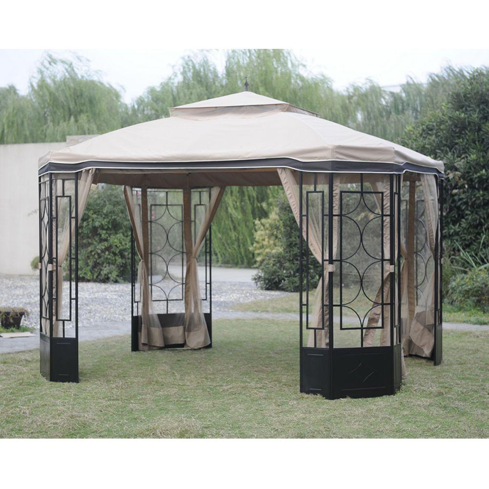 Hampton Bay Mosquito Netting For Alcove Gazebo