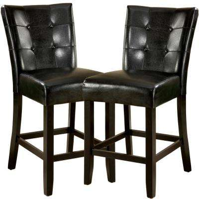 Marion II 24 in. Espresso Cushioned Bar Stool