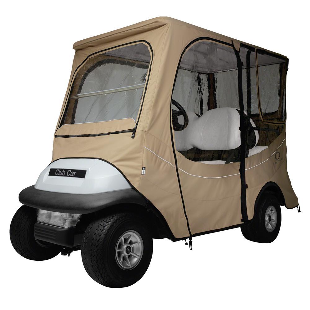 FadeSafe Club Car Precedent Long Roof Khaki Golf Car Enclosure