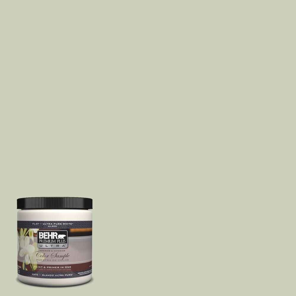 BEHR Premium Plus Ultra 8 oz. #UL210-12 Chinese Jade Interior/Exterior Paint Sample