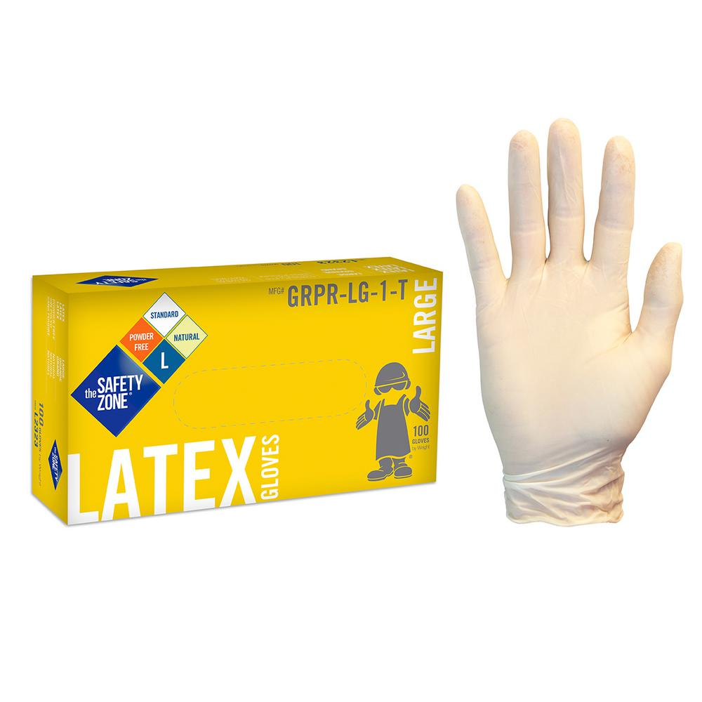 The Safety Zone X Large White Natural Latex Rubber Gloves