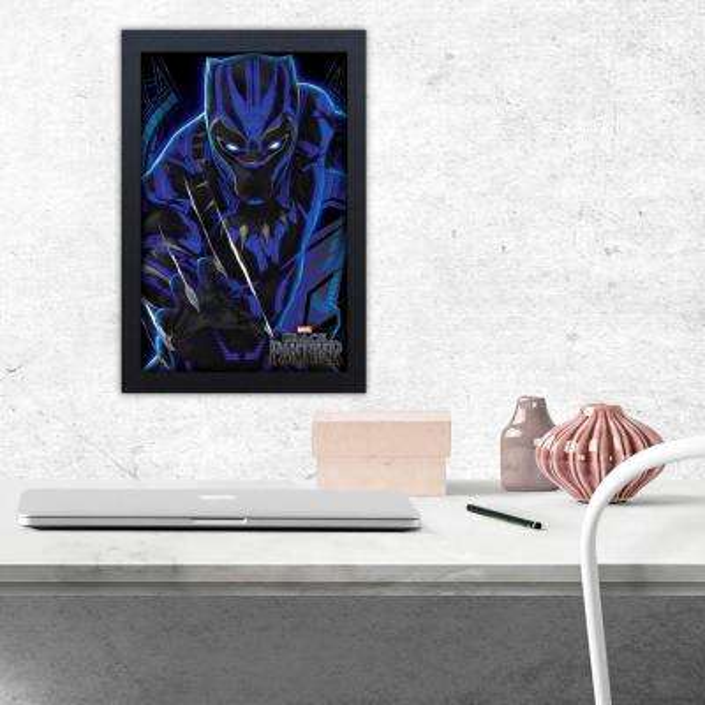 Black Panther Claw Rip - 11x17 Framed Gel-Coat
