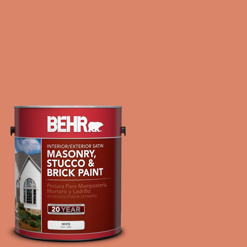 1 gal. #M180-5 King Salmon Satin Interior/Exterior Masonry, Stucco and Brick Paint