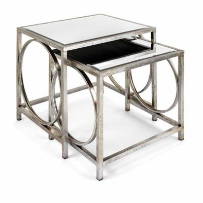 Grant Silver Mirror Tables (Set of 2)