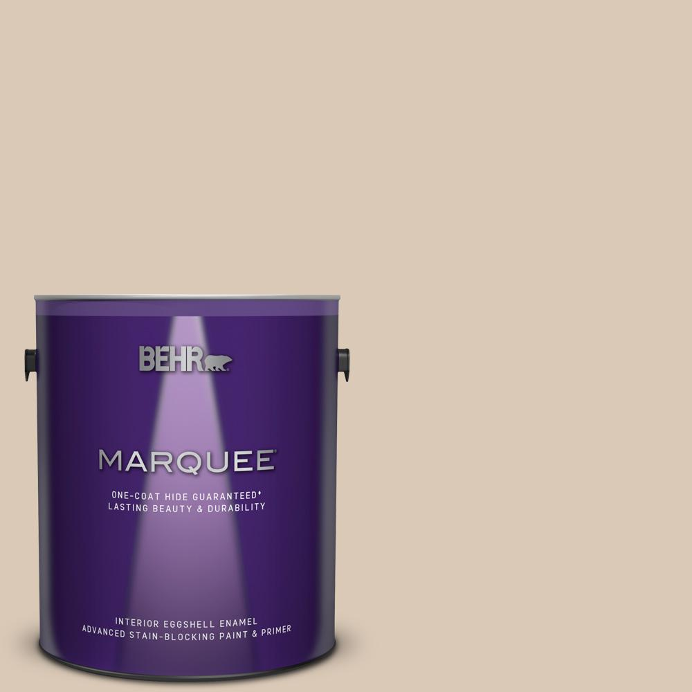 1 gal. #MQ3-09 Loft Light One-Coat Hide Eggshell Enamel Interior Paint and Primer in One & BEHR MARQUEE 1 gal. #MQ3-09 Loft Light One-Coat Hide Eggshell Enamel ...