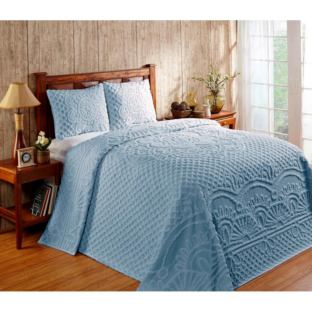 Trevor Blue Queen Bedspread