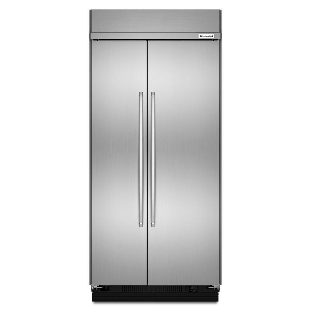 KitchenAid 25.5 cu. ft. Built-In Side by Side Refrigerator in Stainless on ice maker wiring diagram, maytag wiring diagram, kitchenaid range wiring diagram, kenmore wiring diagram,