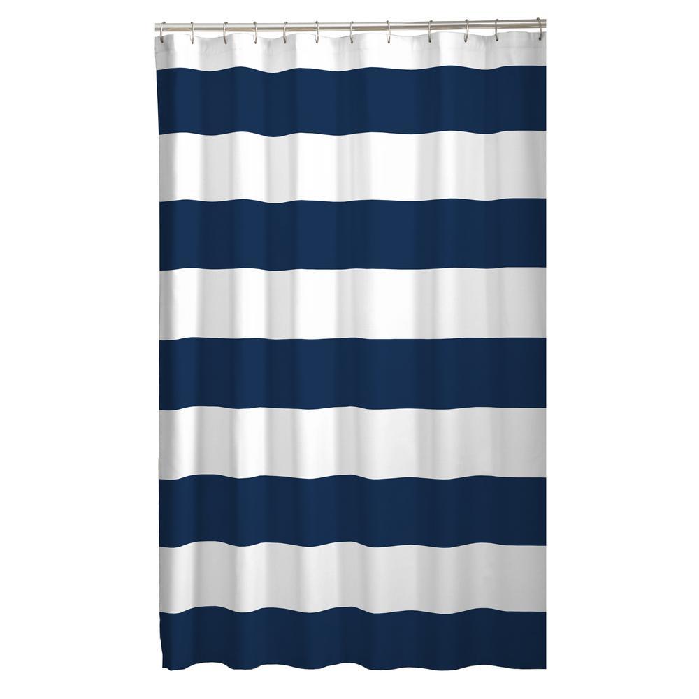 70 in. x 72 in. Porter Stripe Fabric Shower Curtain