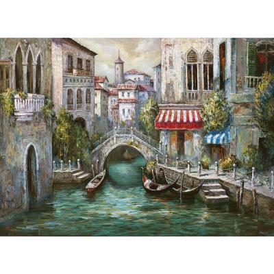 Afternoon in Venice 18 in. W x 13 in. L Polypropylene 4-pack Placemat Set