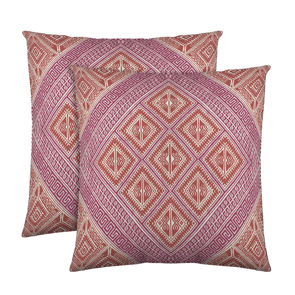 from medallion pillows homes coral embroidered and at gardens pillow walmart garden block decorative better pin