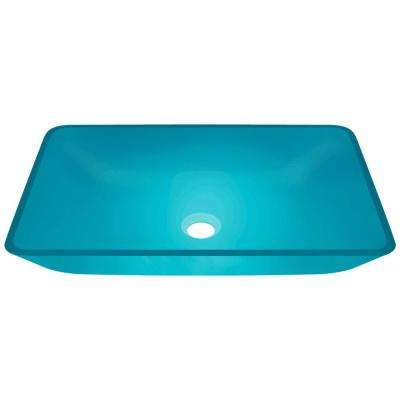Glass Vessel Sink in Turquoise
