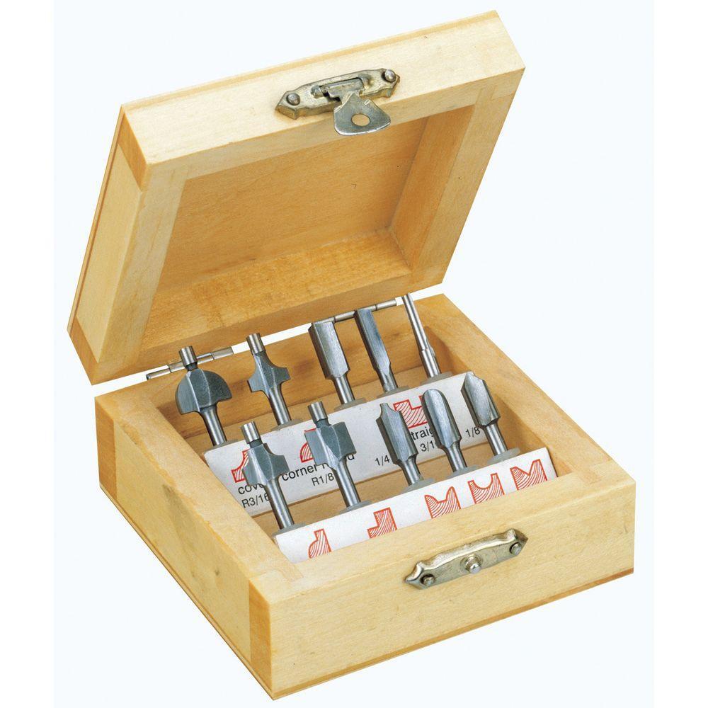 Wood Router Cutter Set (10-Piece)