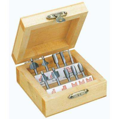 Wood Router Cutter Set (10-Piece)