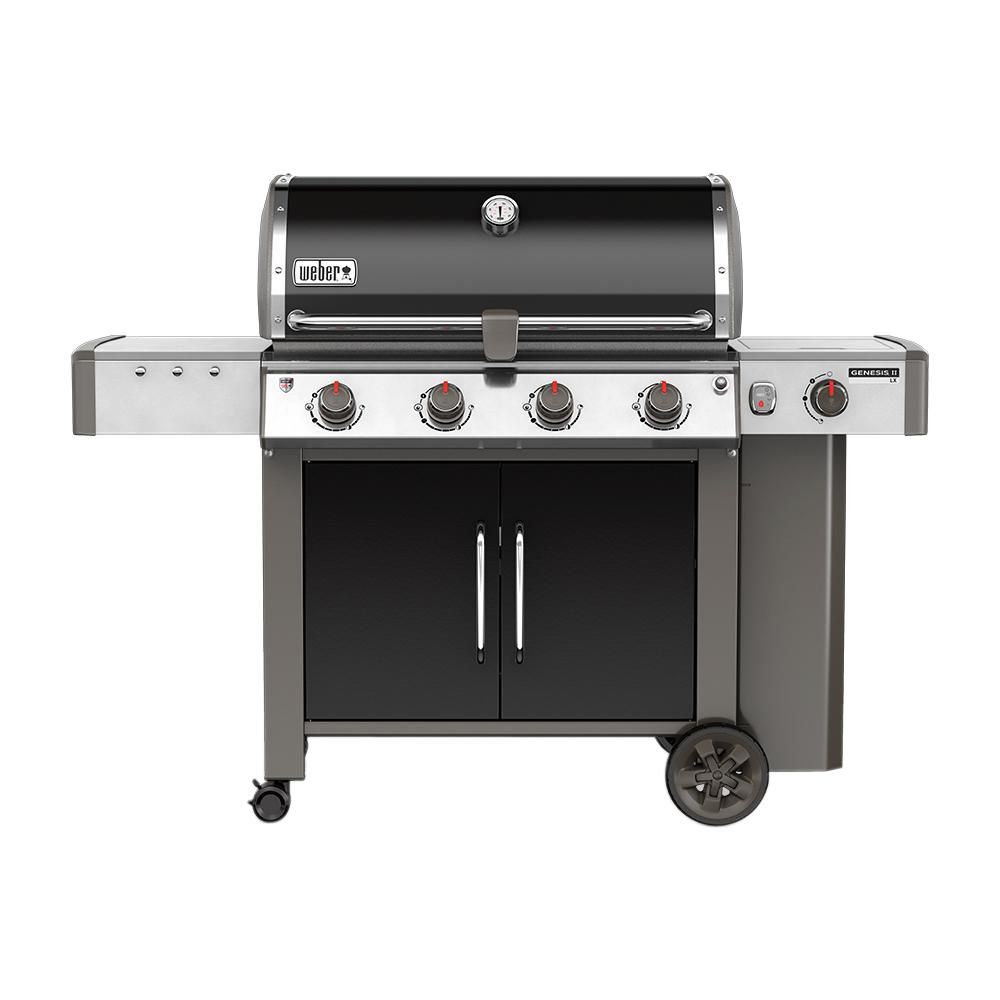 Weber Genesis II LX E-440 4-Burner Propane Gas Grill in Black with ...