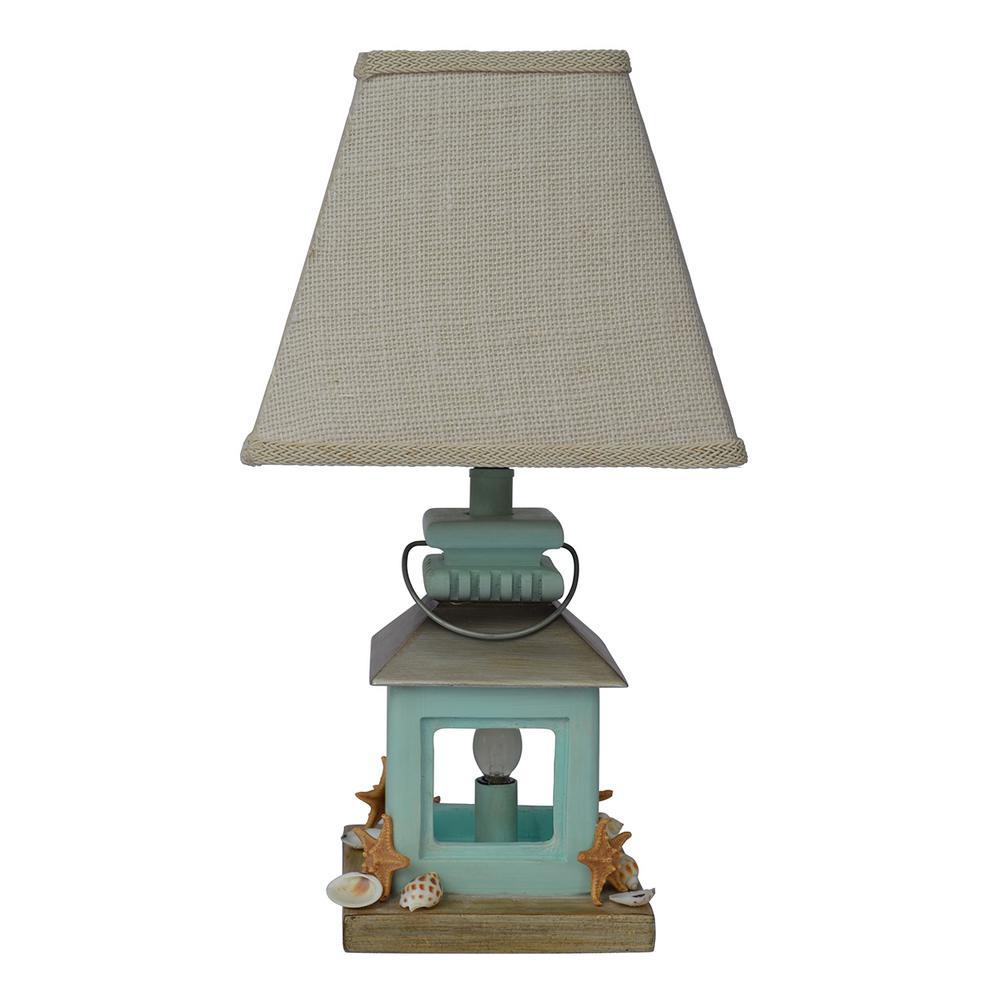 18 in. Light Blue Table Lamp