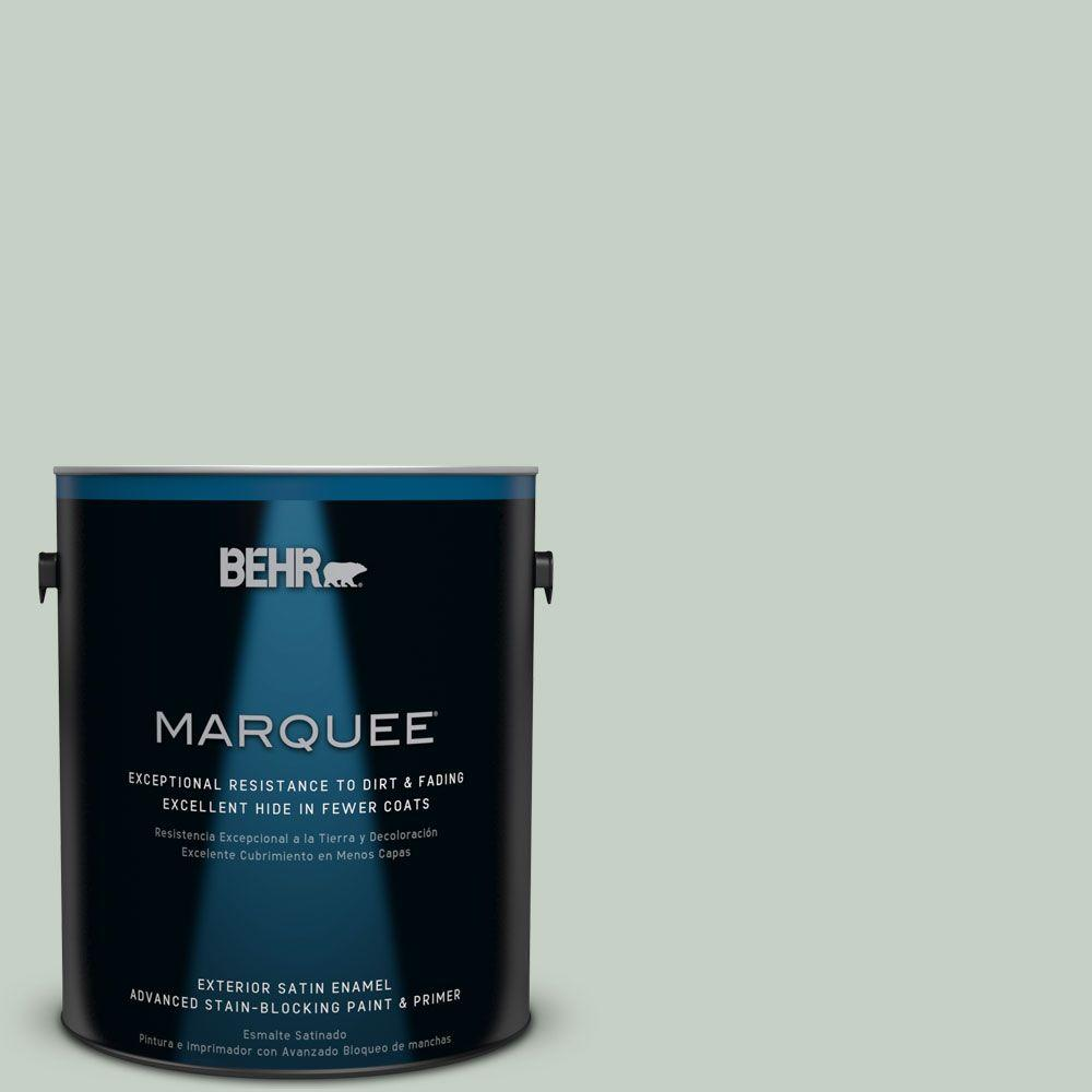 BEHR MARQUEE 1-gal. #N400-2 Frosted Sage Satin Enamel Exterior Paint