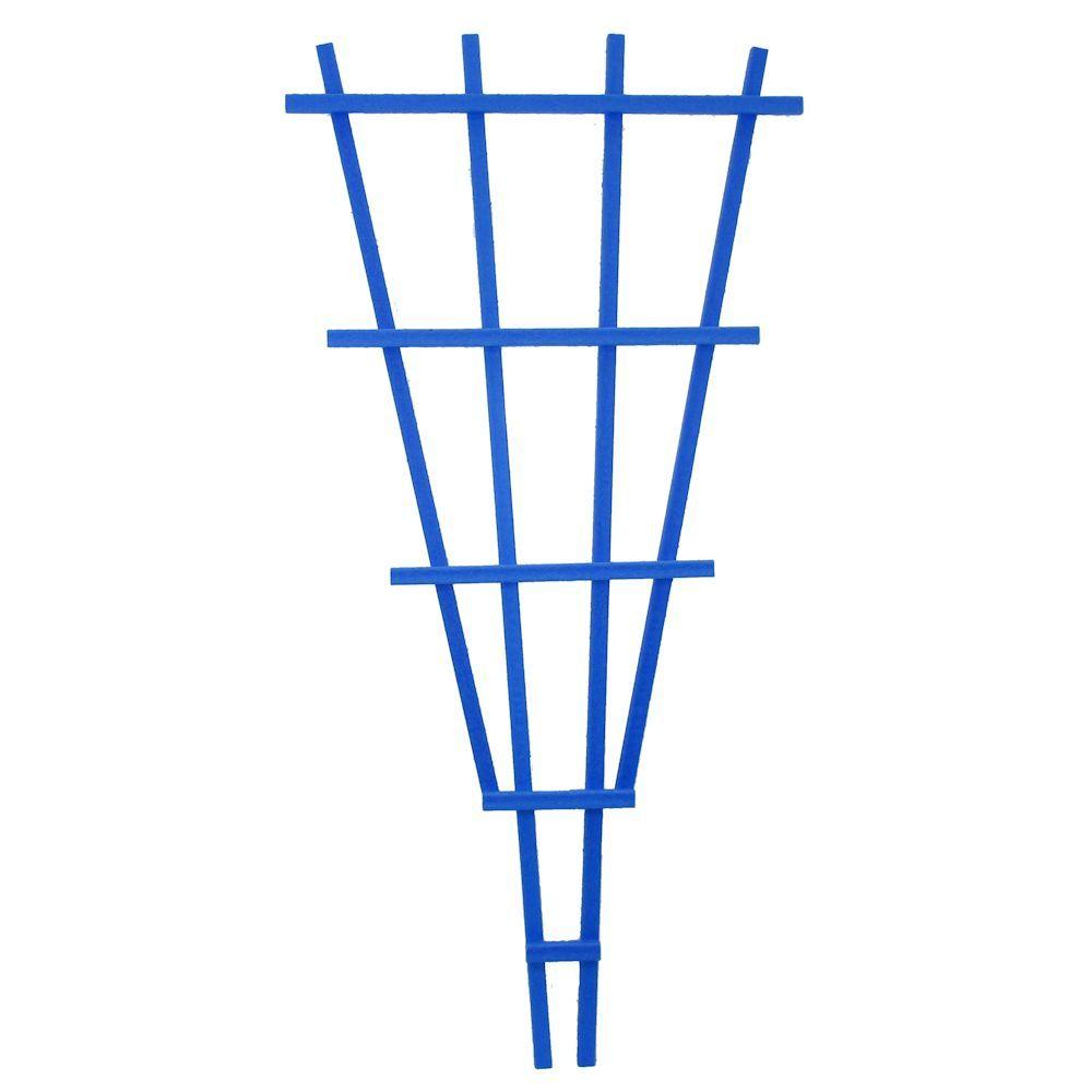 Casa Verde 4 ft. Tropical Blue Composite Fan Trellis
