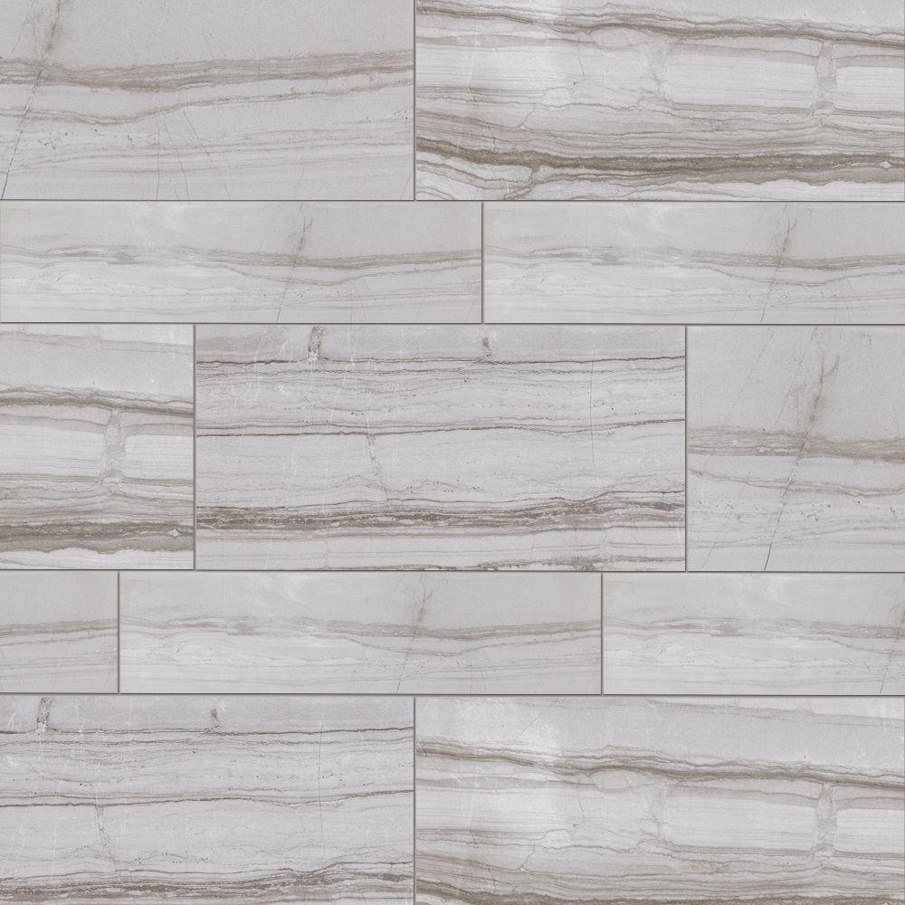 MARAZZI VitaElegante Grigio 6 in. x 24 in. Porcelain Floor and Wall ...