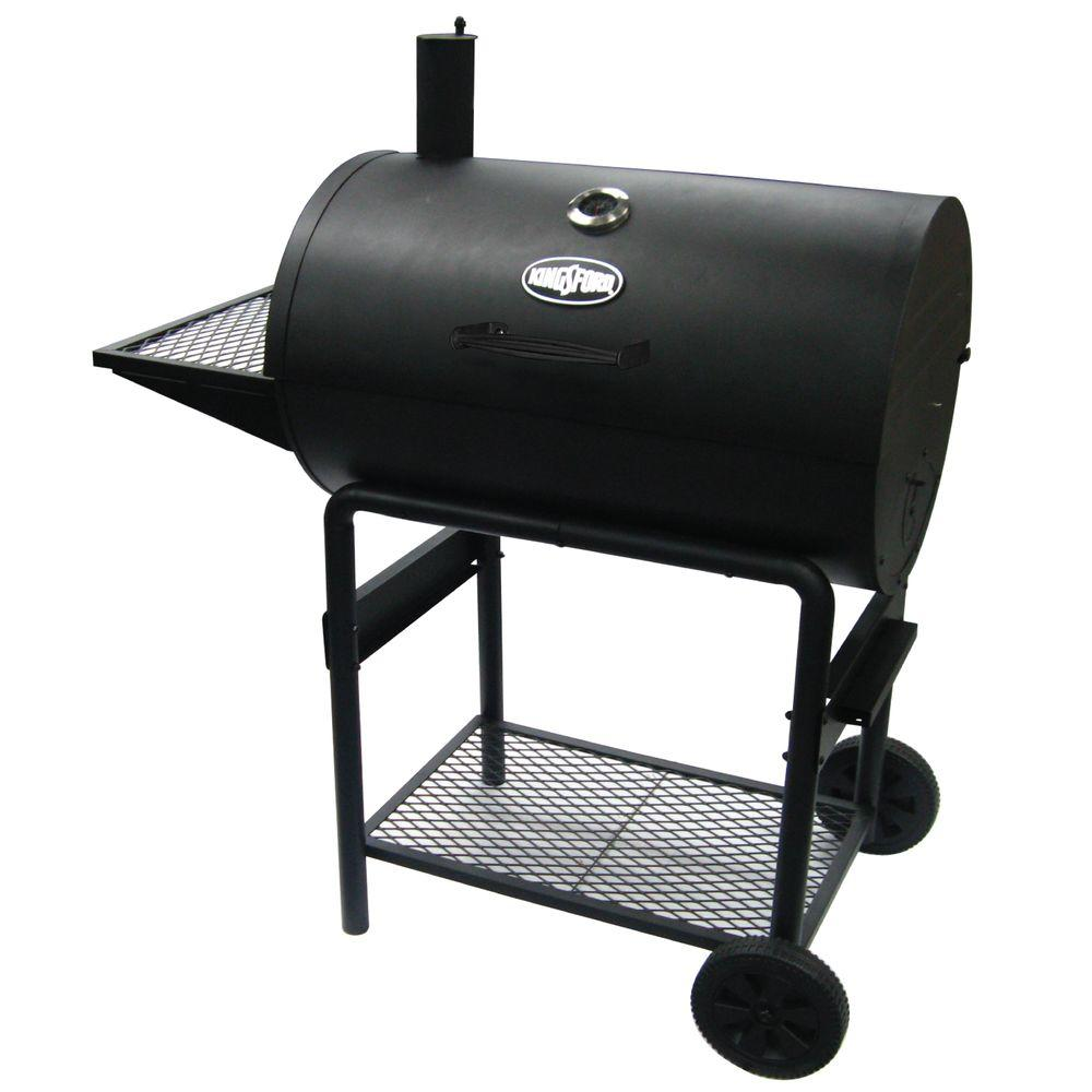 30 in. Barrel Charcoal Grill in Black