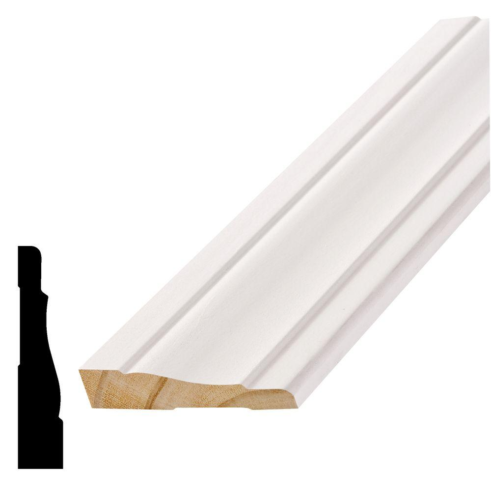 Alexandria Moulding WM 444 11/16 in. x 3-1/2 in. x 96 in. Primed Pine Finger-Jointed Casing