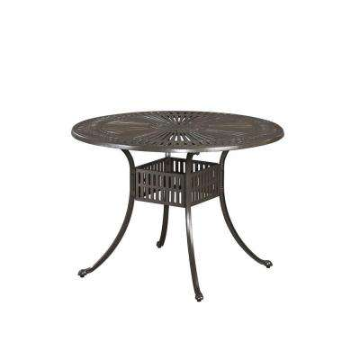 Largo Taupe 42 in. All-Weather Round Patio Dining Table