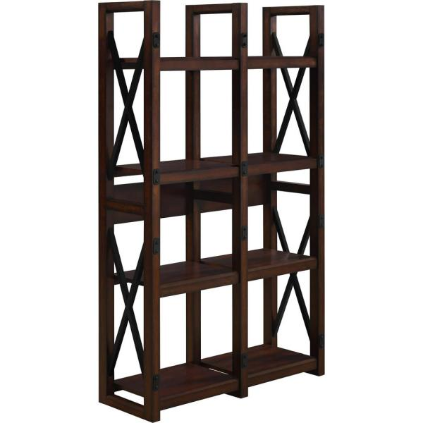 Ameriwood Home Forest Grove Mahogany Open Bookcase HD79877