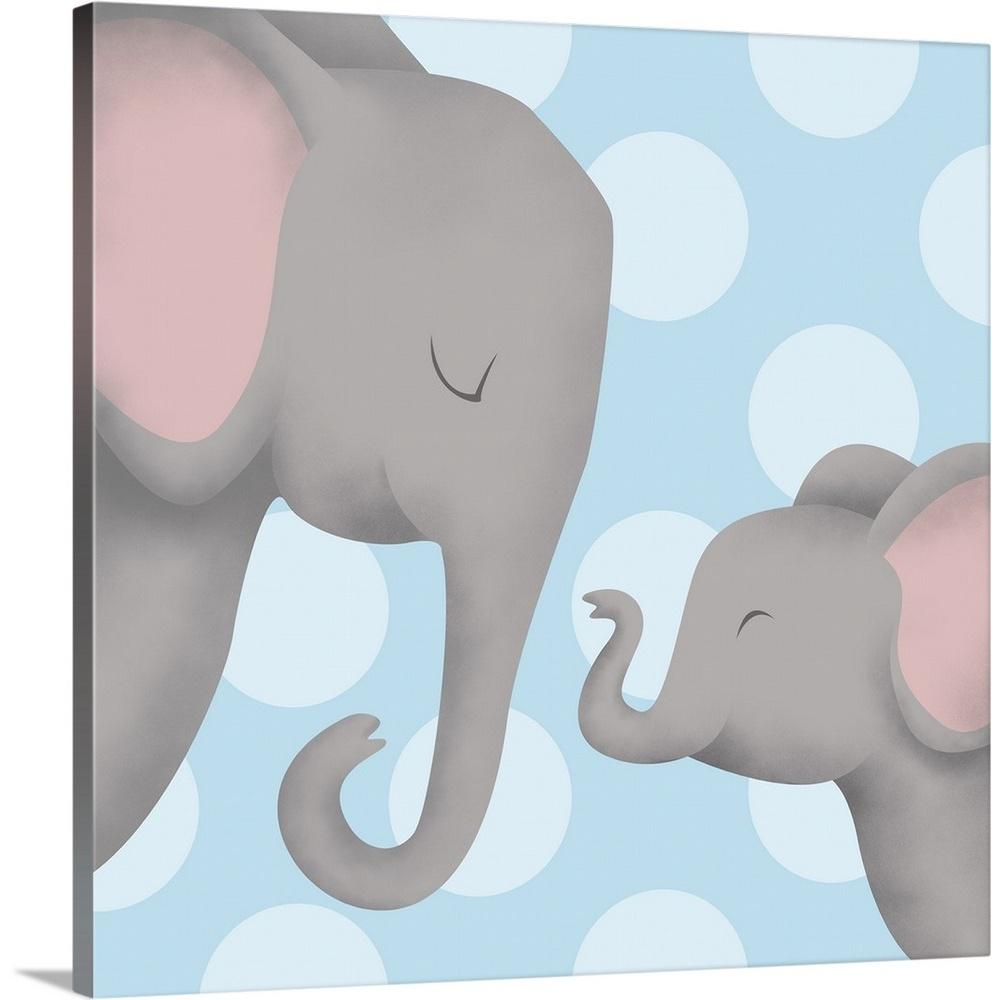 Baby Elephant and mother Canvas wall Art prints high quality great value