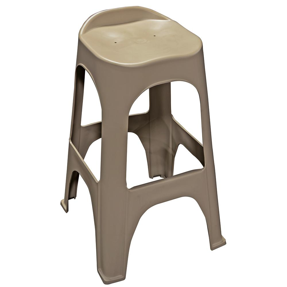 30 in. RealComfort Portobello Resin Outdoor Bar stool (Set of 2)
