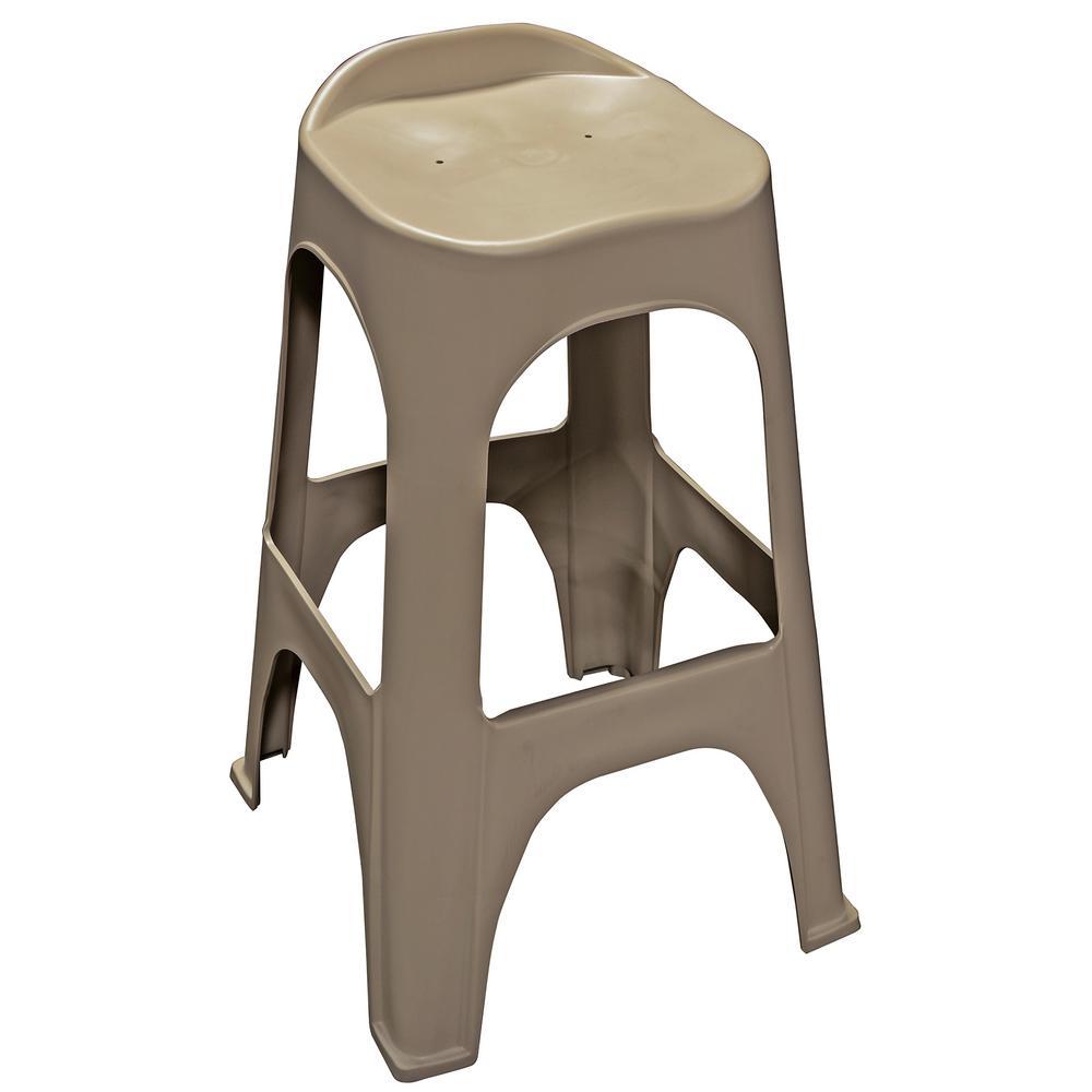 30 in. RealComfort Portobello Resin Outdoor Bar stool (Set of 2)