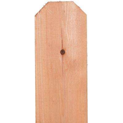 11/16 in. x 5-1/2 in. x 6 ft. Redwood Construction Common Dog-Ear Fence Picket (8-Pack)