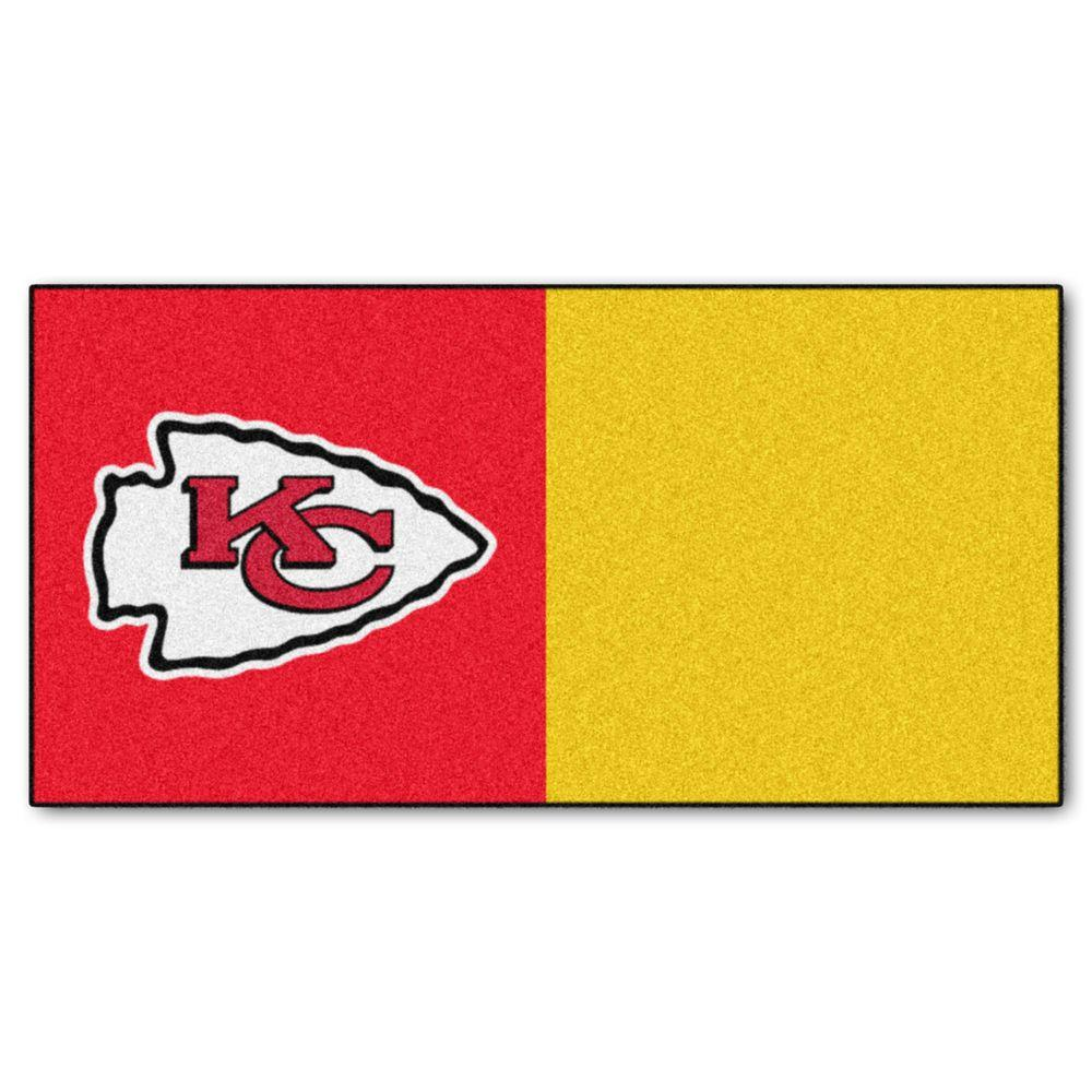 af5cc3e9689 FANMATS NFL - Kansas City Chiefs Red and Gold Nylon 18 in. x 18 in ...