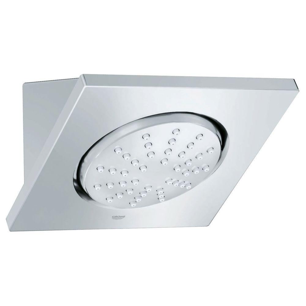 Spa Tile Wall-Mount 1-Spray 5 in. Raincan Showerhead in StarLight Chrome