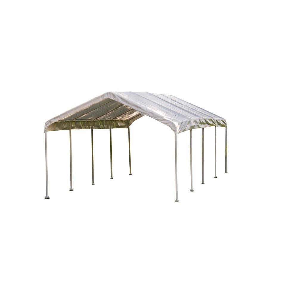 Super Max 12 ft. x 26 ft. White Premium Canopy