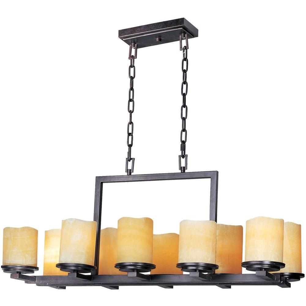 Maxim lighting luminous 10 light rustic ebony chandelier 21149scre maxim lighting luminous 10 light rustic ebony chandelier mozeypictures Images