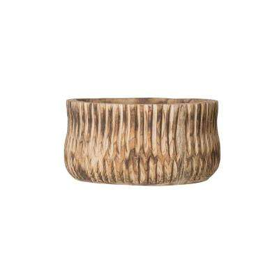 7.75 in. H Brown Wood Planter