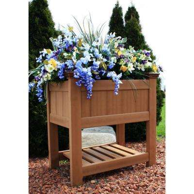 Bloomsbury 36 in. x 24 in. Cedar Vinyl Raised Garden Planter