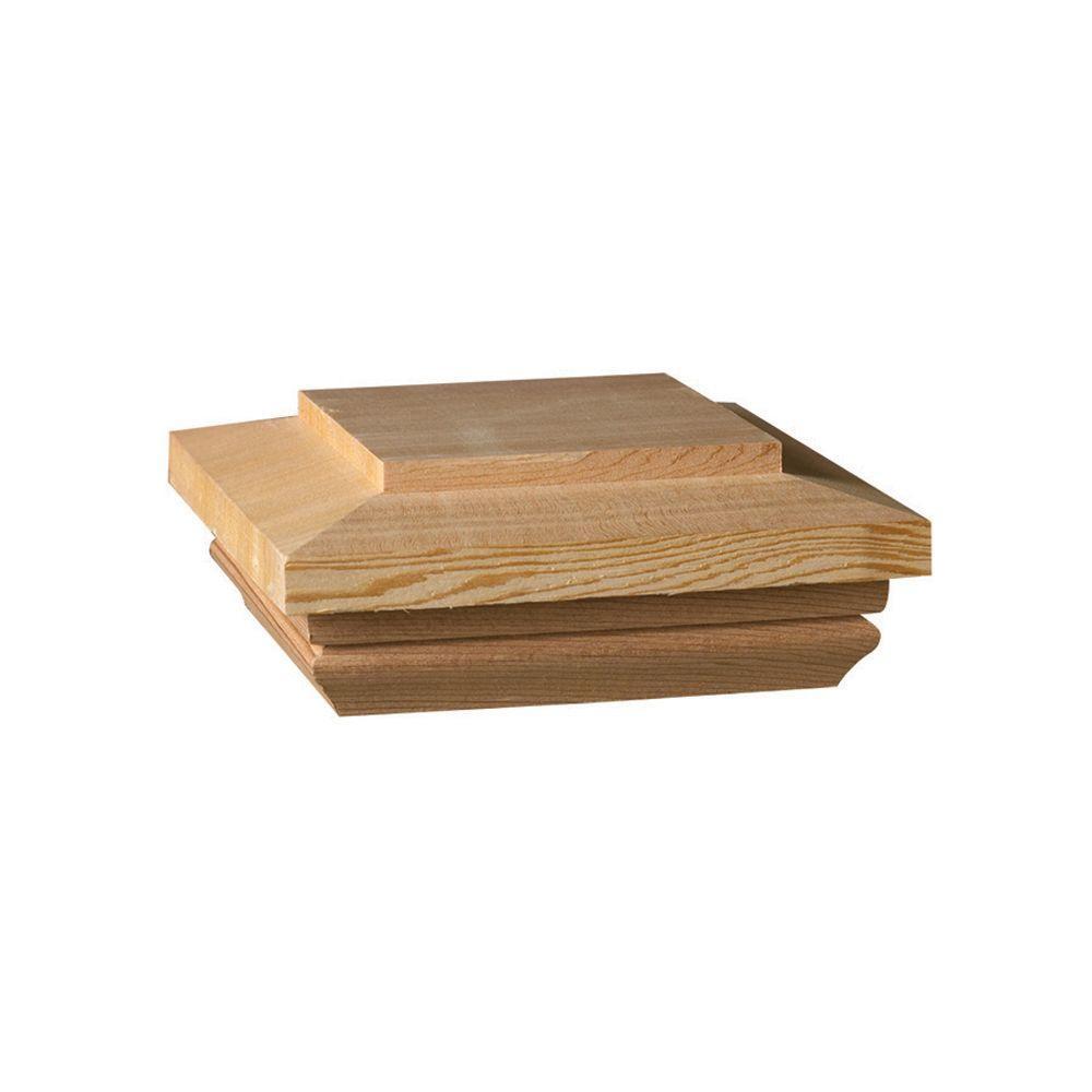 Hampton 4 in. x 4 in. Pressure-Treated Wood Pyramid Post Cap