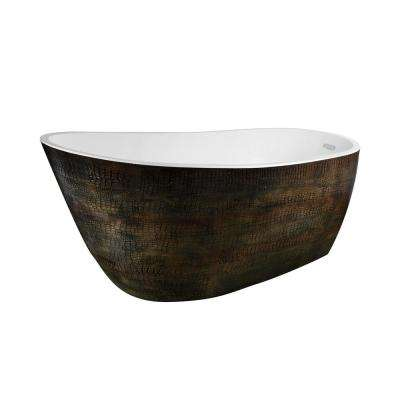 Bouie 5.9 ft. Acrylic Flatbottom Non-Whirlpool Bathtub in Caiman Skin