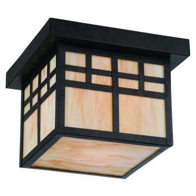 Coleville 1-Light Glendale Bronze Outdoor Flushmount