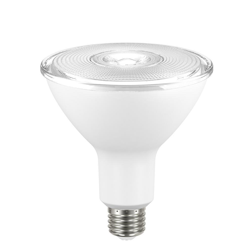 90W Equivalent Bright White PAR38 Non-Dimmable LED Flood Light Bulb (4-Pack)