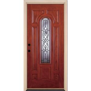 Feather river doors 37 5 in x in lakewood patina for Home depot exterior doors on sale